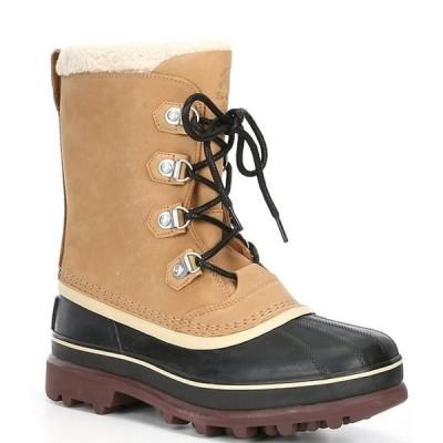ソレル メンズ ブーツ・レインブーツ シューズ Men's Caribou Stack Waterproof Suede Leather Boots