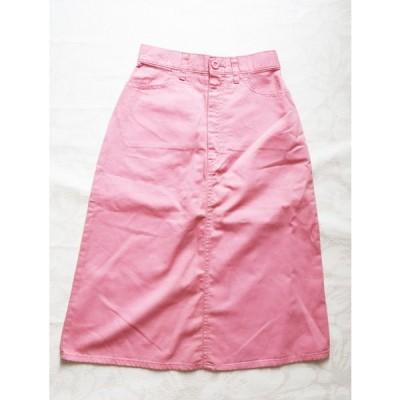 昭和レトロ Aラインスカート ひざ下丈 ピンク 7号11号  春夏 レディースファッション 昭和ノスタルジック 1960年代70年代ファッション