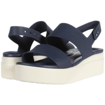 クロックス Crocs レディース シューズ・靴 ウェッジソール Brooklyn Low Wedge Navy/Stucco