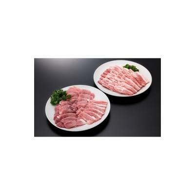 大石田町 ふるさと納税 山形県産豚モモ&バラ焼肉セット(計1000g)