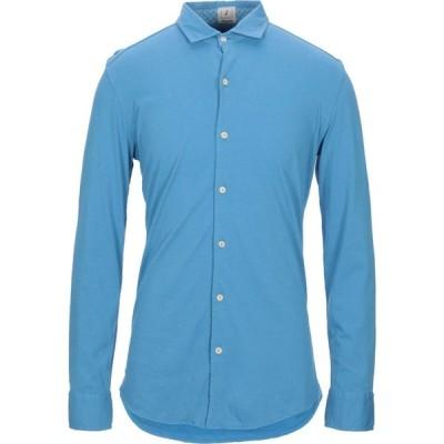 ドルモア DRUMOHR メンズ シャツ トップス Solid Color Shirt Azure