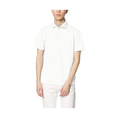 [ジム] ポロシャツ アメリカン・シーアイランドコットン・ドライポロ メンズ (ホワイト M)