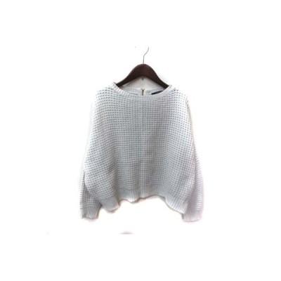 【中古】マカフィー MACPHEE トゥモローランド ニット セーター 長袖 1 白 ホワイト /YI レディース 【ベクトル 古着】