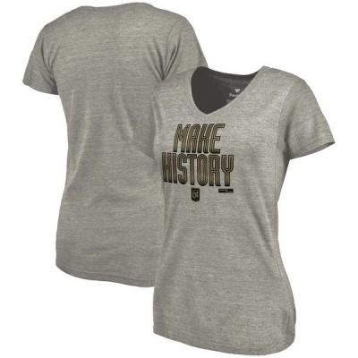 ファナティクス ブランデッド レディース Tシャツ トップス LAFC Fanatics Branded Women's Inaugural Season Tri-Blend V-Neck T-Shirt