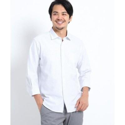 TAKEO KIKUCHI / タケオキクチ ドビードット刺し子7分袖シャツ