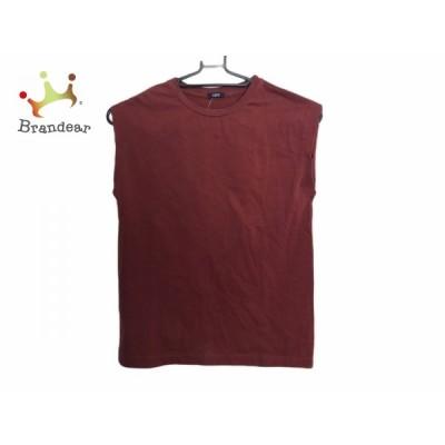 イレーヴ YLEVE ノースリーブTシャツ サイズF レディース - ボルドー クルーネック   スペシャル特価 20201106