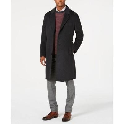 ロンドンフォグ London Fog メンズ コート アウター Signature Wool-Blend Overcoat Dark Charcoal