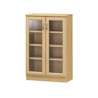 ナチュラルベーシックなガラスキャビネット【幅56.5cm・83.5cm】 リビングボード・チェスト, Cabinets(ニッセン、nissen)