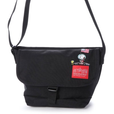 マンハッタンポーテージ Manhattan Portage Manhattan Portage × PEANUTS Casual Messenger Bag (Black)