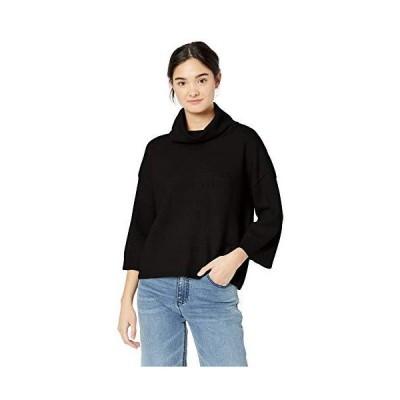 Jack by BB Dakota Junior's Cute Commute Cowl Neck Sweater, Black, Small並行輸入