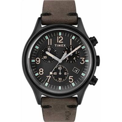 腕時計 タイメックス メンズ Timex Men's MK1 Steel Chronograph 42mm | Black Leather Strap | Watch TW