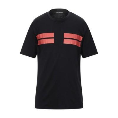 ニールバレット NeIL Barrett  メンズ Tシャツ カットソー トップス ブラック