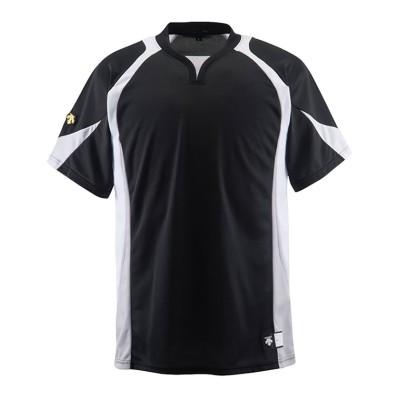 【デサント】 ベースボールシャツ メンズ ブラック系 O DESCENTE