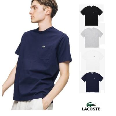 『ネコポス便対応商品(1点まで)』 ラコステ レギュラーフィット クロコエンブレム クルーネック ポケット Tシャツ TH5846L メンズ