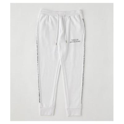 【アズールバイマウジー】 T/H ONE MILE SWEAT PANTS メンズ ホワイト L AZUL BY MOUSSY