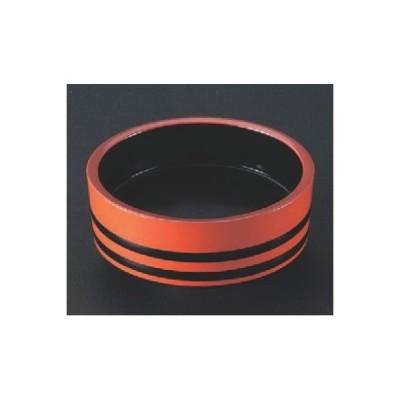 桶 D.X7.5寸盛込桶 朱帯黒内黒塗 高さ79 直径:228 /業務用/新品