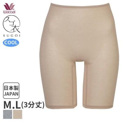 【B】ワコール スゴ衣 快適プラス 薄い、軽い、涼しい 3分丈 インナーボトム(M・Lサイズ)HLD290 [m_b]