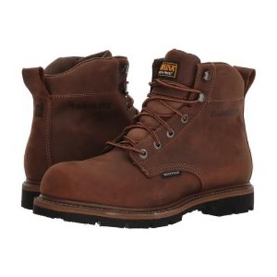 """カロリーナ メンズ ブーツ&レインブーツ シューズ 6"""" Waterproof Work Boot CA9036 Mohawk RW/Brown Leather Upper"""