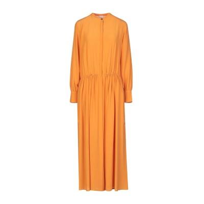 アリジ ALYSI ロングワンピース&ドレス オレンジ 40 シルク 100% ロングワンピース&ドレス