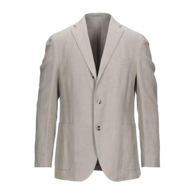 ボリオリ BOGLIOLI テーラードジャケット ライトグレー 54 リネン 52% / コットン 48% テーラードジャケット