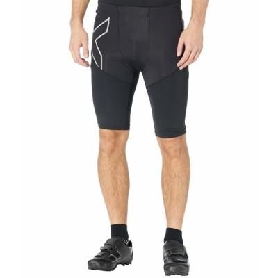 2XU ハーフ&ショーツ ボトムス メンズ Run Dash Compression Shorts Black/Silver Reflective