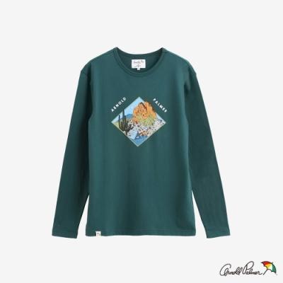 Arnold Palmer -男裝-主題風景荒野印花T恤-綠色