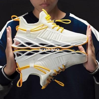 スニーカー ランニングシューズ 運動靴 スポーツ メンズシューズ ウォーキング カジュアル オシャレ 軽量 通気