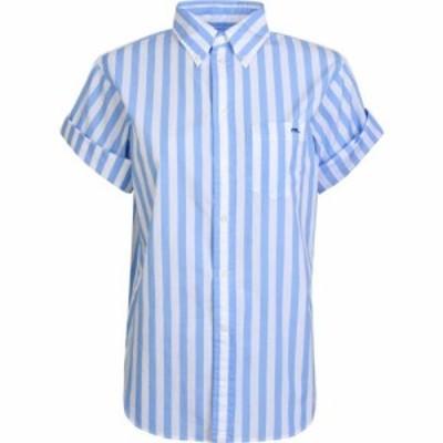 ラルフ ローレン POLO RALPH LAUREN レディース ブラウス・シャツ トップス Short Sleeve Stripe Shirt Blue/White