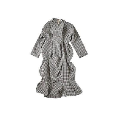 <HOUGA/ホウガ> mary twisted dress 02-whtxblk【三越伊勢丹/公式】