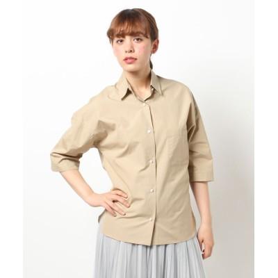 【アルアバイル】  タイプライタービッグシャツ レディース ベージュ系 02 allureville
