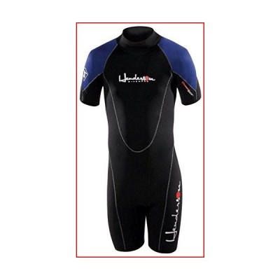 Henderson Child Thermoprene 3mm Shorty Scuba Diving Wetsuit-Black / Blue-8【並行輸入品】