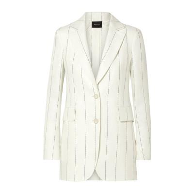 アクリス AKRIS テーラードジャケット アイボリー 6 リネン 100% テーラードジャケット