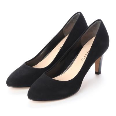 ジルスチュアート シュー JILLSTUART shoe ラウンドトゥプレーンパンプス (ブラックスエード)