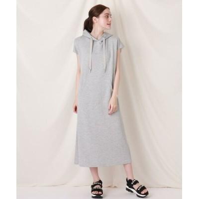 Couture Brooch/クチュールブローチ フーディロングワンピース ライトグレー(011) 38(M)