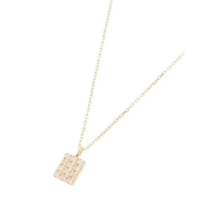 COCOSHNIK / ココシュニック ダイヤモンド スクエアパヴェ ネックレス
