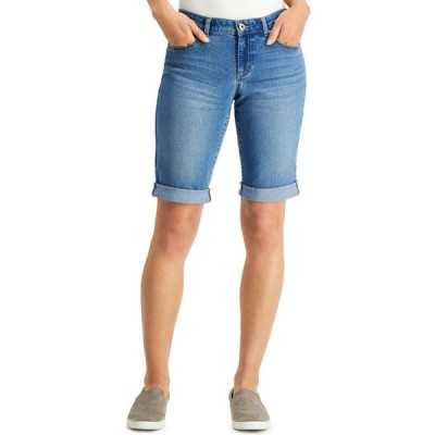 スタイル&コー Style & Co レディース ショートパンツ デニム バミューダ ボトムス・パンツ Curvy Fit Cuffed Denim Bermuda Shorts Beaumont