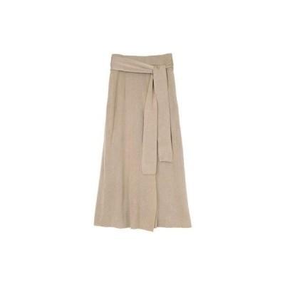 ユアーズ ur's サマーニットラップスカート (ライトベージュ)