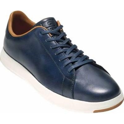 コールハーン メンズ スニーカー シューズ Men's Cole Haan GrandPro Tennis Sneaker Blazer Blue Handstain Leather