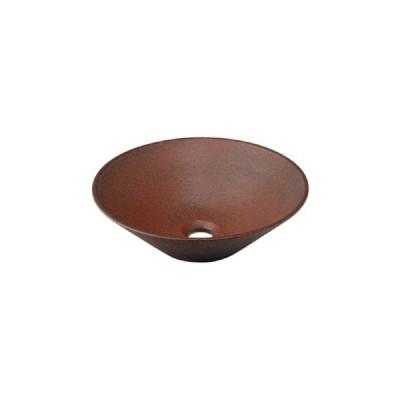 カクダイ 丸型手洗器窯肌 493-037-M