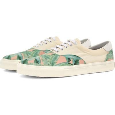 アミリ AMIRI メンズ スニーカー レースアップ シューズ・靴 small banana leaf lace up sneaker Green/Peach/Natural
