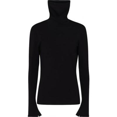 バレンシアガ Balenciaga レディース ニット・セーター タートルネック トップス stretch-knit turtleneck sweater Black