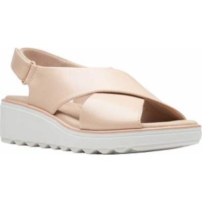 クラークス レディース サンダル シューズ Women's Clarks Jillian Jewel Slingback Sandal Blush Leather