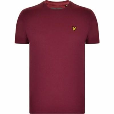 ライル アンド スコット Lyle and Scott メンズ Tシャツ ロゴTシャツ トップス Basic Logo T Shirt Burgundy