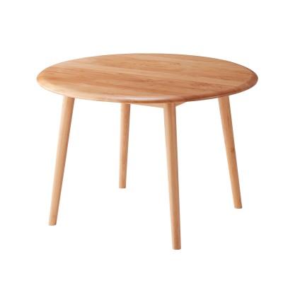 アルダーの無垢材を贅沢に使用した円形ダイニングテーブル