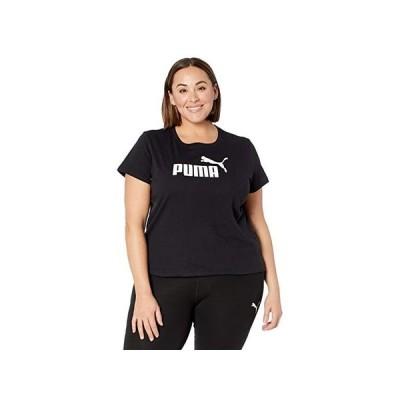 プーマ Plus Size Essential Logo Tee レディース シャツ トップス Cotton Black