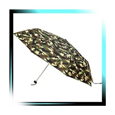 折傘/カーキ 紳士用 軽量楽々ミニ折畳傘 8本親骨60cm大判サイズ