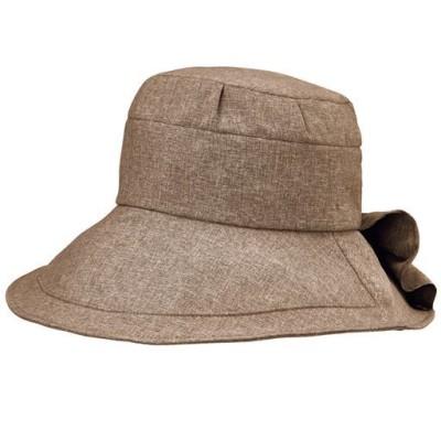 21機能で小顔に見える遮熱遮光UV帽子<美活計画>/ライトブラウン