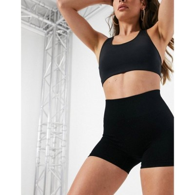 ヒート HIIT レディース ショートパンツ ボトムス・パンツ Ribbed Seamless Legging Shorts In Black ブラック