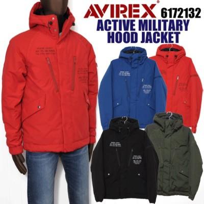 AVIREX アビレックス アヴィレックス 6172132 アクティブ ミリタリー フードジャケット メンズ 中綿ジャケット avirex 大きいサイズ 送料無料