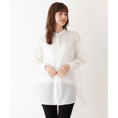 SHOO・LA・RUE/シューラルー シンプルバンドカラーシャツ ホワイト(002) 04(LL)
